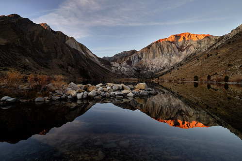 Sunrise with Alpenglow at Convict Lake - Eastern Sierra, California