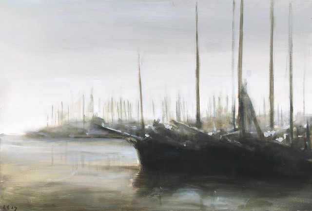 Boats 90x130cm by Léon Spierenburg
