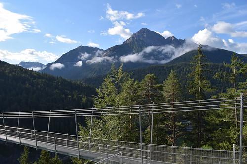 Highline 179 Hängebrücke, Tirol, Österreich / Highline 179 hanging bridge, Tyrol, Austria