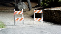 Barricades in Mill Mountain Park
