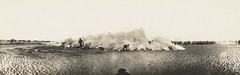 Smoke bombs demonstration, Australian troops, attrib. Palestine, ca. 1916-1917, James Allan Chauvel