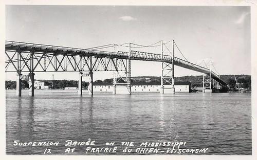 Mississippi River, Marquette, Iowa, Prairie du Chien, Wisconsin, Suspension Bridge