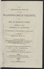 """The BL King's Topographical Collection: """"Planisphaerium Coeleste: or a Map of Zodiacal Stars, by J.W. Norie."""""""