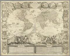 """The BL King's Topographical Collection: """"[Le Globe Terrestre ... dressé sur la projection de M. de la Hyre ... par I.B. Nolin, etc]"""""""