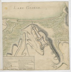 """The BL King's Topographical Collection: """"Designed Plan of a Fort and Batterys of the Ground of the Retranchment in 1758 for the defence of the head of the Waters of Lake George, and for a Post to be Established there."""""""