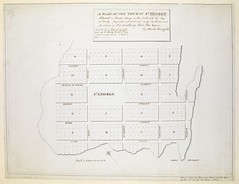 """The BL King's Topographical Collection: """"A PLAN OF THE TOWN OF ST. GEORGE Situated in Harbor Etang on the North side the Bay of Fundy, projected and laid out under the Orders and directions of His Excellency John Parr Esquire """""""