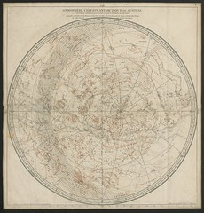 """The BL King's Topographical Collection: """"Hémisphères Célestes, Arctique ou Septentrional, et Antarctique ou Austral, calculés et construits pour l'année 1763, par le Sr Robert de Vaugondy."""""""