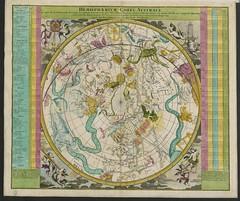 """The BL King's Topographical Collection: """"Hemisphaerium Coeli Australe (Boreale), in quo loca Stellarum fixarum secundum Æquatorem, per ascenciones ad annum 1730 completum, sistuntur, a J.G. Doppelmaiėro; operâ J.B. Homanni."""""""