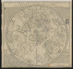 """The BL King's Topographical Collection: """"Planisphères Célestes Septentrional et Méridional, par M. de la Hire."""""""