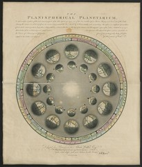 "The BL King's Topographical Collection: ""The Planispherical Planetarium, or Representation in plans of the most interesting part of the Solar System, giving a view of the Sun and the inferior Planets Mercury and Venus, also of the Earth, shewing the manne"