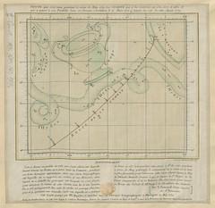 """The BL King's Topographical Collection: """"Route que doit tenir pendant le mois de May 1759 la Comète qui a été observée en 1531, 1607, et 1682: par T. Jamard."""""""