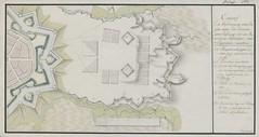"""The BL King's Topographical Collection: """"Entwurf zu verschanzung eines lagers unter ten canonen einer vestung fur 10 batallions infantiere und 8 esquadron cavallerie."""""""