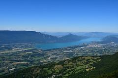 Vue sur le lac du Bourget depuis la croix du Nivolet