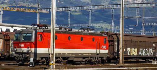 Österreichischen Bundesbahnen ÖBB 1144 037 Buchs (SG) Schweiz 26 augustus 2020