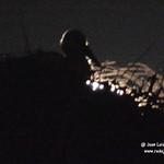 Las cigüeñas y la luna en la casa de las Torres de Tembleque (Toledo) 26-8-2020