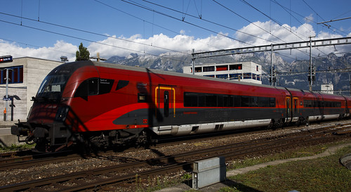 ÖBB Railjet  Buchs SG Schweiz 26 augustus 2020