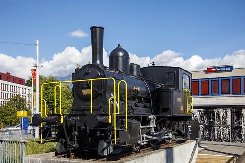 SBB E 3-3 8487 'Tigerli' at Buchs (SG) Schweiz 26 augustus 2020