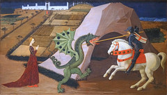 """""""Saint George terrassant le Dragon"""" de Paolo Uccello (musée Jacquemart-André, Paris)"""