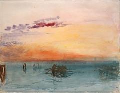"""""""Venise : vue sur la lagune au coucher du soleil"""" de W. Turner (musée Jacquemart-André, Paris)"""
