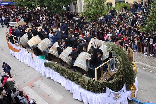 La sfilata dei carri di Sant'Antuono a Macerata Campania