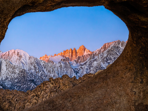 Mount Whitney (Tumanguya) Through The Mobius Arch