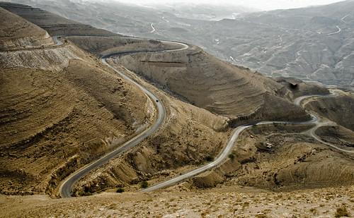 Jordan:  Serpentine Road In Wadi Al Mujib