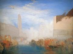 """""""Venise, la Piazzetta avec la cérémonie du Doge épousant la mer"""" de W. Turner (musée Jacquemart-André, Paris)"""