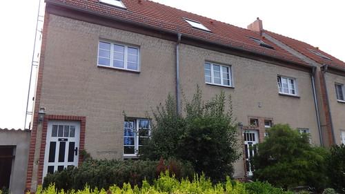1919/24 Magdeburg Wohnhaus Bunter Weg 5 von Bruno Taut Gartenstadt-Kolonie Zur Siedlung Reform in 39118 Reform
