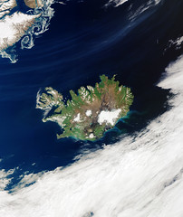Cloud-free Iceland