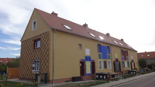 1919/24 Magdeburg genossenschaftliches Wohnhaus Bunter Weg 3 von Bruno Taut Gartenstadt-Kolonie Zur Siedlung Reform in 39118 Reform