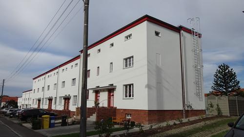 1927/30 Magdeburg Wohnhauszeile Lilienweg 1-26 Gartenstadt-Kolonie Zur Siedlung Reform von Bruno Taut in 39118 Reform