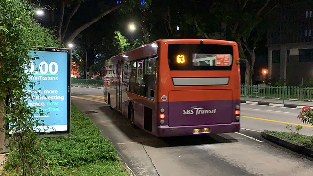 SBS Transit - Scania K230UB (SBS8538P) on 63 - Rear