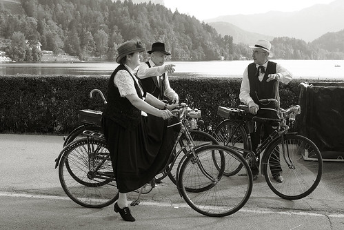 old country bicycle traveller