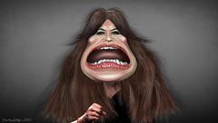 Kimberly Guifoyle - Caricature