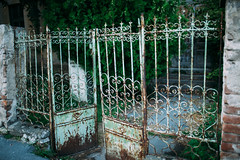 Old rusty worn out gates.