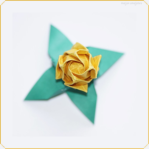 Origami Kawasaki Rose Bud (Toshikazu Kawasaki)