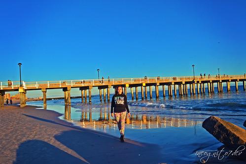 Happy Me at the Coney Island Beach & Pier at Sunset Brooklyn New York City NY P00634 DSC_3173