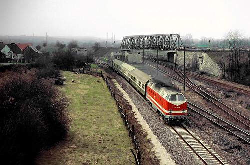 DR 219 108 Zeitz Abzw Zn 13.04.1992