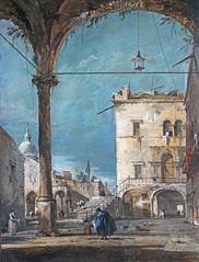 """""""Portique vénitien"""" de Francesco Guardi (musée Jacquemart-André, Paris)"""