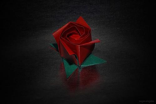 Origami Rose's Bud  (Toshikazu Kawasaki)