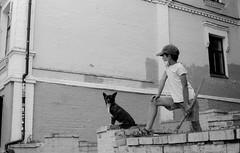 Мальчик с собакой / Boy with dog