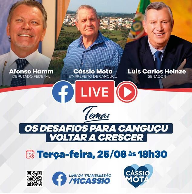 25/06/2020 Live com Deputado Afonso Hamm e ex-prefeito de Canguçu, Cássio Mota