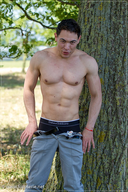 Carlos naked outdoors