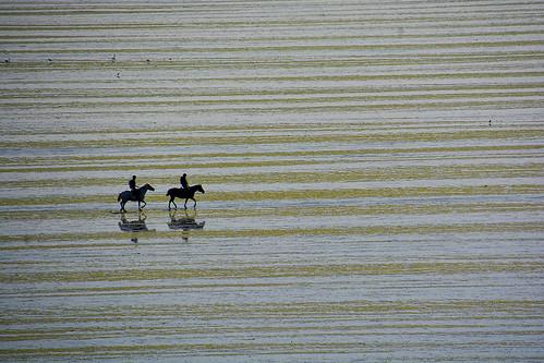 2 Cavaliers sur la plage Bretagne _2586