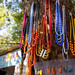 Handmade traditional necklaces, pendants and earrings and other jewelry for sale at Dilli Haat, an outdoor handicraft bazaar market in New Delhi India