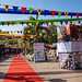 New Delhi, India - November 17, 2019: Dilli Haat, an outdoor craft market bazaar showcasing handmade items from each Indian state