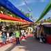 New Delhi, India - November 17, 2019: Dilli Haat, an outdoor craft market bazaar showcasing handmade items from each Indian state