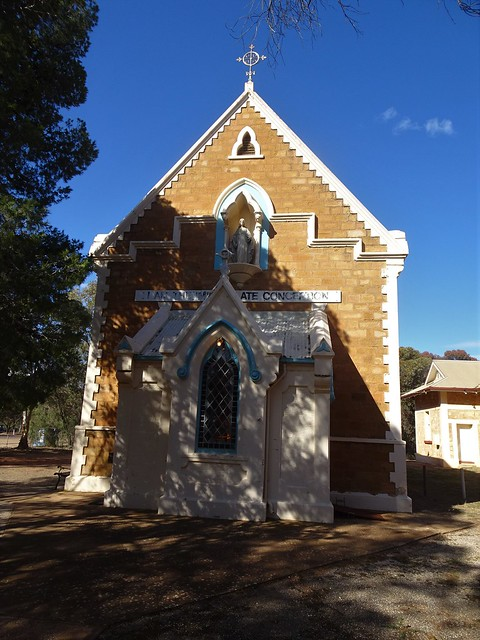 Photo:Quorn. The fine Catholic Church and its porch. opened in 1883. By denisbin