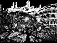 San Gimignano (1922) - Mauririts Cornelis Escher (1898 - 1972)