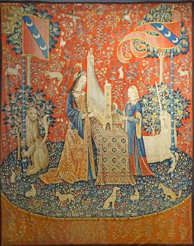 Tapisserie de la Dame à la Licorne (Musée de Cluny, Paris)